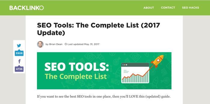SEO工具:完整列表